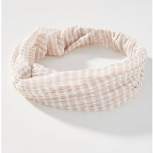 Anthropologie Beachbound Striped Knotted headband
